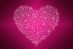 Glanzende sterren van mijn hart Royalty-vrije Stock Foto's