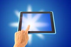 Glanzende tablet Stock Foto