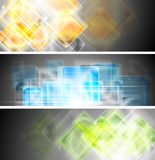 Hi-tech vector glanzende banners Royalty-vrije Stock Afbeelding