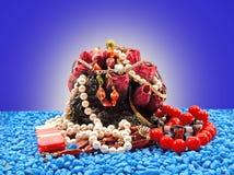 Glanzende uitstekende juwelen Stock Foto's