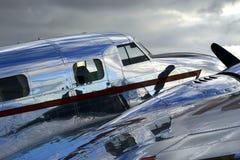 Glanzende Uitstekende Vliegtuigen Stock Afbeeldingen