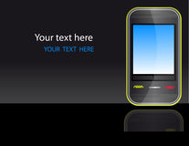 Glanzende vector mobiele telefoon Royalty-vrije Stock Fotografie