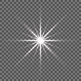 Glanzende vectorsterillustratie De uitstraling van de gloedvlek stock illustratie