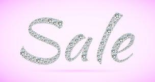 Glanzende verkoopmarkering op roze achtergrond Royalty-vrije Stock Foto's