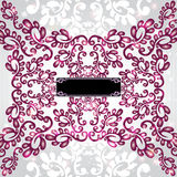 glanzende violette de winterachtergrond Royalty-vrije Stock Afbeeldingen
