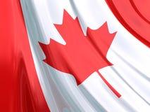 Glanzende Vlag van Canada Stock Foto's