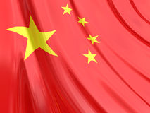 Glanzende Vlag van China Stock Foto