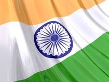 Glanzende Vlag van India Stock Afbeelding