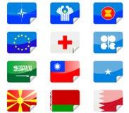 Glanzende vlaggen Royalty-vrije Stock Foto's