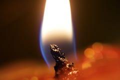 Glanzende vlam royalty-vrije stock afbeelding