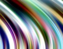 Glanzende vloeibare lijnenachtergrond in kleurrijke tinten, abstracte achtergrond, fantasie vector illustratie