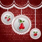 Glanzende Vruchten Vectorillustratie Stock Foto's