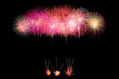 Glanzende Vuurwerkachtergrond Royalty-vrije Stock Afbeelding