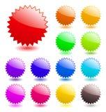 Glanzende Webelementen. vector illustratie