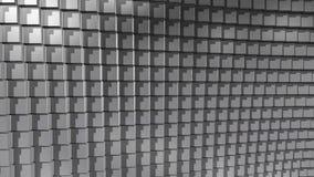 Glanzende weerspiegelende metaalkubus geanimeerde van een lus voorziende achtergrond stock videobeelden