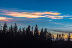 Glanzende wolken Royalty-vrije Stock Foto