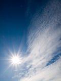 Glanzende zon Royalty-vrije Stock Afbeelding