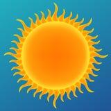 Glanzende zon in de blauwe hemel Stock Foto
