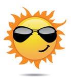 Glanzende zonpictogrammen Stock Afbeeldingen