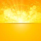 Glanzende zonvector en ruimte voor uw tekst Stock Afbeeldingen
