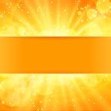 Glanzende zonvector met plaats voor tekst Royalty-vrije Stock Foto's