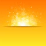Glanzende zonvector, zonnestralen, zonnestralen, bokeh Stock Foto