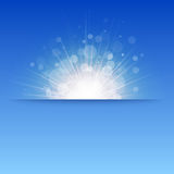Glanzende zonvector, zonnestralen, zonnestralen, bokeh Stock Afbeeldingen