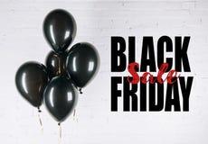 Glanzende zwarte ballons royalty-vrije stock foto