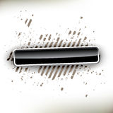 Glanzende zwarte knoop Royalty-vrije Stock Fotografie