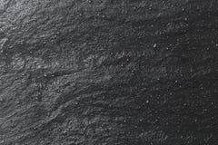 Glanzende zwarte leiachtergrond of textuur Stock Afbeeldingen