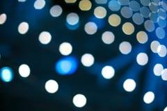Glare on blue background, bokeh like background.  stock photo