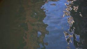 Glare en el agua, mar, Venecia, Italia almacen de metraje de vídeo