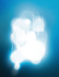 Glare of light on an abstract gray surface with the molten metal Stock Photography
