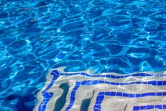 Bright water surface in the pool Stock Images