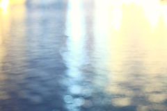 Glare on the water surface Stock Photo