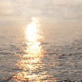 Glare on the water vintage Royalty Free Stock Photo