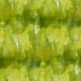 Glare from yellow green paint watercolor seamless texture with spots and streaks art Stock Photo