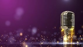 Glaring microphone stock video