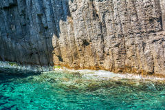The Glaronissia islets, Milos island, Cyclades, Greece Royalty Free Stock Images