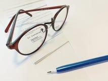 glasögon Arkivbild