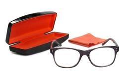 Glasögon i den gråa ramen Arkivbilder
