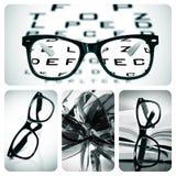 Glasögoncollage arkivfoton