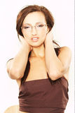 glasögonkvinna arkivfoto