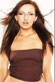 glasögonkvinna royaltyfri foto