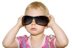 glasögonprydd flicka Arkivbild