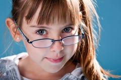glasögonschoolgirl Arkivfoton