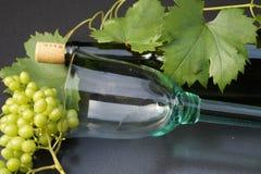 Glas и бутылка вина Стоковое Изображение RF