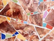 Glas и керамическая мозаика Стоковая Фотография RF