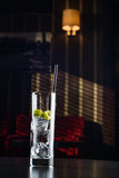 Glas с льдом и известкой Стоковое Изображение