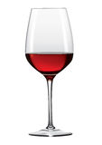 Glas 2 van de wijn Stock Foto's